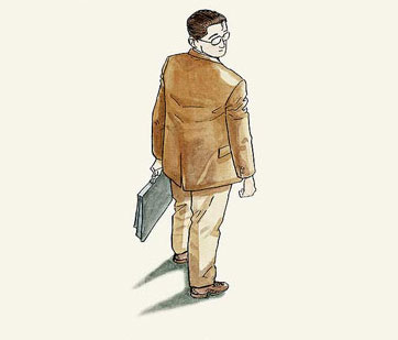 Livre «L'homme qui marche» de Jiro Taniguchi